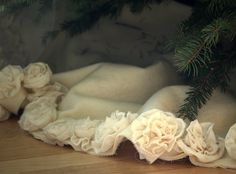 on the prowl for the PERFECT tree skirt... one of my few finds on etsy