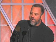 Billy Joel Accepts Rock and Roll Hall of Fame Award in 1999 - YouTube