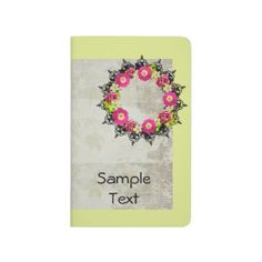 "Wreath ""Pink Grape"" Flowers Pocket Journal - floral gifts flower flowers gift ideas"