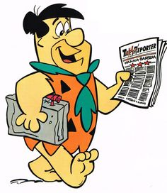 Fred with the morning paper - should be made of rock? Classic Cartoon Characters, Cartoon Books, Classic Cartoons, Cartoon Pics, Cute Characters, Cartoon Drawings, Comic Books, Good Cartoons, Famous Cartoons