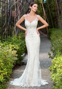 Wedding Dresses:   Illustration   Description   Lace V-Neck Sheath Gown with Sheer Side Panels | Ivoire by Kitty Chen Marissa V1601 | trib.al/mByr52R    -Read More –   - #WeddingDresses https://adlmag.net/2017/12/07/wedding-dresses-lace-v-neck-sheath-gown-with-sheer-side-panels-ivoire-by-kitty-chen-marissa-v1/