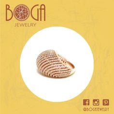Anillo olas en plata bañada en oro rosado con circones. Encuéntralo en nuestra isla en C.C San Marino. #bogalovers #ring #jewelry #beautiful #bogajewelry #sanmarino