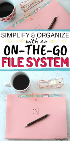 Learn how to create an easy and simple DIY filing system for paperwork organization for your home / life management. Also learn how to pick categories for your filing system according to your lifestyl Organizing Paperwork, Clutter Organization, Paper Organization, Organizing Tips, Office Filing System, Office Organization At Work, Business Organization, Office Storage, Organized Office