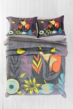 Sarah Watts for DENY Sly Fox Duvet Cover - Urban Outfitters