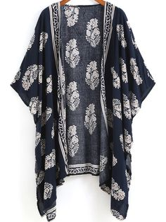 Shop Navy Vintage Floral Loose Kimono online. SheIn offers Navy Vintage Floral Loose Kimono & more to fit your fashionable needs.