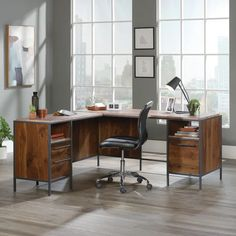 L Shaped Office Desk, L Shaped Executive Desk, L Shaped Wood Desk, Modern L Shaped Desk, Large Office Desk, Large Desk, Home Office Desks, Office Furniture, Basement Home Office