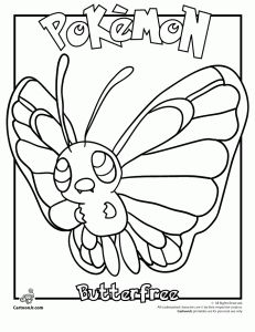 Butterfree Pokemon Coloring Page