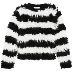 Max Mara Striped mohair-blend sweater ($460) ❤ liked on Polyvore featuring tops, sweaters, stripe top, cocoon sweater, stripe sweater, maxmara and striped top
