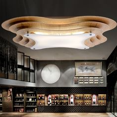 设计师北欧个性创意实木吸顶灯 新中式木艺客厅卧室餐厅LED灯具-tmall.com天猫
