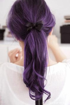 Purple is a hair category, red, black, brown and Purple color those are popular in hair fashion. over 20 aged female prefer to keep Purple hair look.