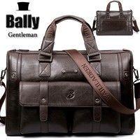 62f7110cb1 BAILLR Brand Man Bag Leather Black Briefcase Men Business Handbag Messenger  Bags Male Vintage Men s Shoulder Bag Large Capacity - Rede 2 shopp