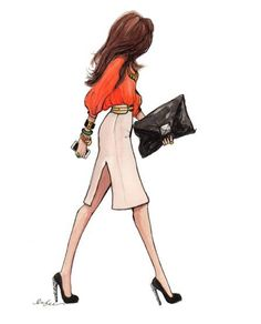Business woman sketch