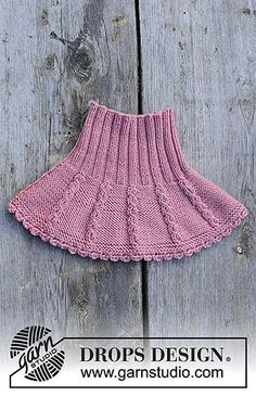 Lille lisa / DROPS children - free knitting patterns by DROPS design The set includes: knitted hat and collar scarf with a small cable pattern for children. Knitting For Kids, Baby Knitting Patterns, Free Knitting, Crochet Skirt Pattern, Knit Crochet, Drops Design, Knitted Hats, Neck Warmer, Girls Skirt Patterns