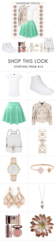 """""""White T-Shirt."""" by amar-ghazzi ❤ liked on Polyvore featuring Joseph, Vans, LE3NO, Needle & Thread, Michael Kors, Accessorize, Kate Spade, Shaun Leane, Red Camel and Charlotte Tilbury"""