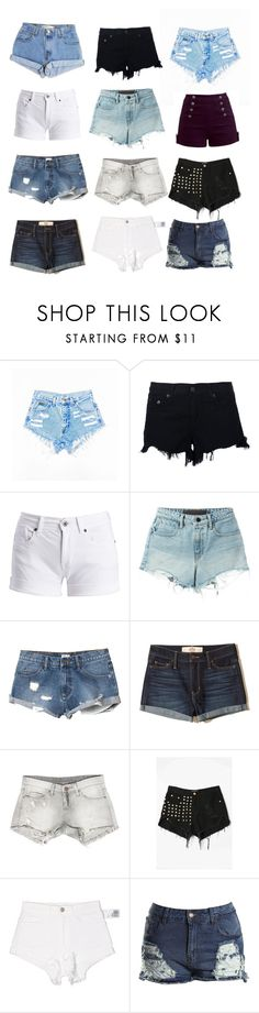 """""""💖fav shorts💖"""" by carlota-amaro ❤ liked on Polyvore featuring Levi's, rag & bone, Barbour International, T By Alexander Wang, RVCA, Hollister Co., Sans Souci, WithChic, Forever 21 and Boohoo"""