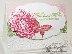 stampin up best of butterflies card ideas | Favorite Blooming with Kindness card - Patty's Stamping Spot