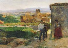 Ruins of Bunol   Joaquin Sorolla y Bastida   oil painting