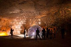 daan roosegaard's lotus flower illuminates jerusalem cave