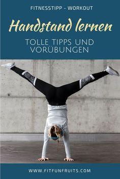 Handstand lernen – So einfach geht's How to learn a handstand! With these tips and exercises you can easily learn a handstand yourself. Pilates Workout, Fitness Workouts, Yoga Fitness, Physical Fitness, Fun Workouts, Yoga Pilates, Pilates Reformer, Fitness Hacks, Easy Fitness
