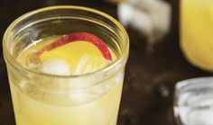 Nectarine Spritzer - A very light cocktail with an amazing fruit flavor. Refreshing Drinks, Yummy Drinks, Yummy Food, Yummy Yummy, Cold Drinks, Delish, Beverages, Kiwi, Nectarine Recipes