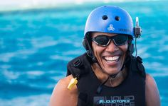 UNSPCIFIED, BRITISH VIRGIN ISLANDS - FEBRUARY 1: In this undated image Former President Barack Obama takes a break from learning to kitesurf at Richard Branson's Necker Island retreat on February 1, 2017 in the British Virgin Islands. Former President Obama and his wife Michelle have been on an extended vacation since leaving office on January 20.  (Photo by Jack Brockway/Getty Images) via @AOL_Lifestyle Read more…