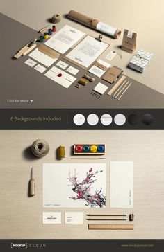 Art & Craft / Stationery Mock-Up by Mockup Cloud on Creative Market