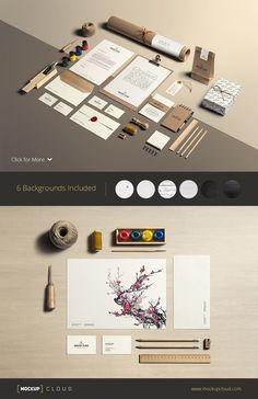 Art & Craft / Stationery Mock-Up by Mockup Cloud on Creative Market