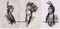R68 Lovely Ladies Swap Playing Cards Mint Cond Indian Native American Version 2 | eBay