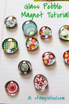76 Crafts To Make and Sell - Easy DIY Ideas for Cheap Things To Sell on Etsy, Online and for Craft Fairs. Make Money with These Homemade Crafts for Teens, Kids, Christmas, Summer, Mother's Day Gifts. |  Glass Pebble Magnet |  diyjoy.com/crafts-to-make-and-sell