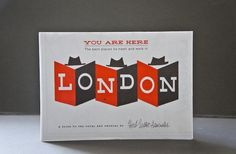 You Are Here: London Map by Herb Lester Associates