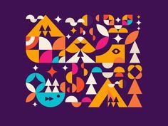 ubda designed by Nino Mamaladze. Connect with them on Dribbble; Graphic Design Illustration, Illustration Art, Wall Design, Logo Design, Namaste Art, Geometric Graphic Design, H Logos, Pictogram, Art Logo