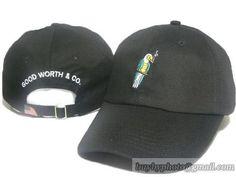 59929f30193 Men s   Women s Unisex Good Worth   Co The Parrot Vivid Logo Strap Back  Baseball Adjustable Hat - Black. baseball caps yang