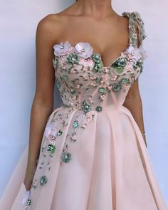 Buy Unique One Shoulder Pink Prom Dresses Appliques Sweetheart Long Party Dresses on sale.Shop prom or formal dresses from Promdress. Find all of the latest styles and brands in Junior's prom and formal dresses at FabFba Pink Prom Dresses, Pink Gowns, Cheap Dresses, Elegant Dresses, Pretty Dresses, Strapless Dress Formal, Beautiful Dresses, Evening Dresses, Formal Dresses