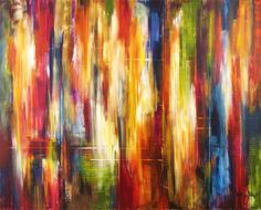 """Fine Art - Large Abstract - """"Amidst The City Rhythms"""" 