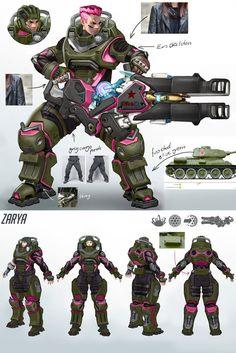 Overwatch - Zarya Vintage Tank Concept by Lothrean on DeviantArt