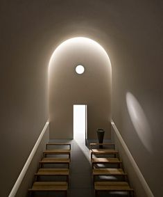 Interior model of the chapel Casa delle Bottere by John Pawson at the Design Museum, London.