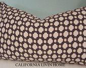 "F. Schumacher Betwixt / 12"" x 20"" / Charcoal / Ivory / Decorative Pillow / Designer Fabric"
