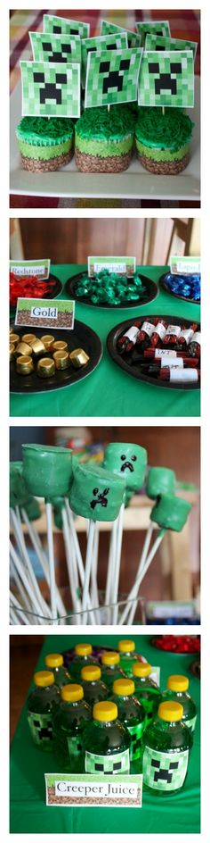 MINECRAFT Birthday Party Ideas   DebtFreeSpending.com middle picture