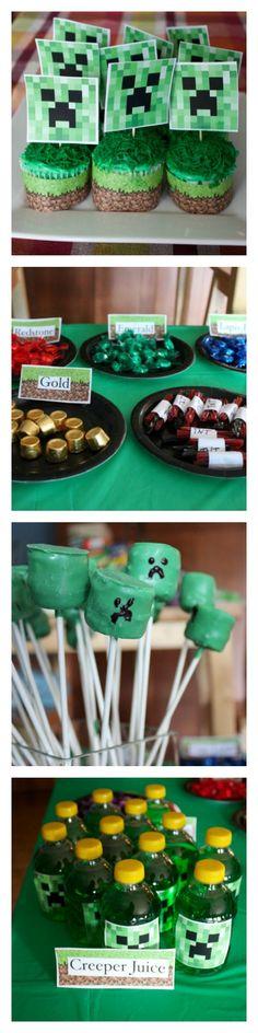 MINECRAFT Birthday Party Ideas | DebtFreeSpending.com