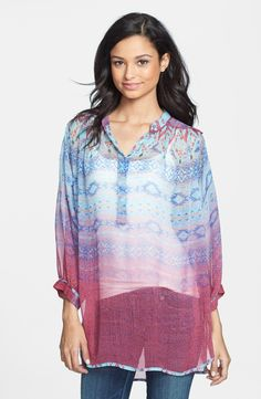 Pop of color tunic tops
