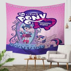 Custom My Little Pony Tapestry Throw Wall Hanging Bedspread - Three Lemons Hometextile