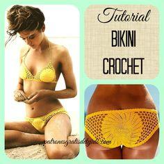 Crochet paso a paso bikini 70 ideas Crochet Bikini Pattern, Crochet Pillow Pattern, Crochet Bikini Top, Crochet Patterns, Baby Bikini, Fast Crochet, Crochet Pillow Cases, Crochet Fashion, Crochet Clothes