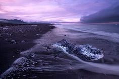 Icy beach magical sunset  Photo by Lionel Fellay -- National Geographic Your Shot