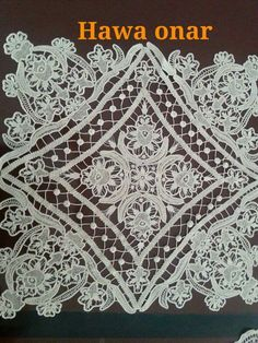 A Cross Stitch Patterns, Crochet Patterns, Romanian Lace, Hardanger Embroidery, Point Lace, Needle Lace, Irish Lace, Lace Making, Crochet Lace