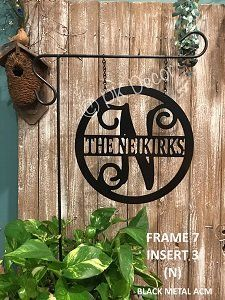 Custom Metal Decorative Signs Best Established Family Last Name Monogram Signmetal Monogram Door Inspiration Design