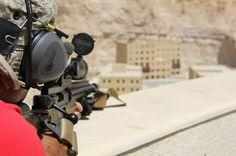 One of KASOTC's instructors (former Jordan 71st Counter Terrorist Unit) delivers precision fire on several long range targets.