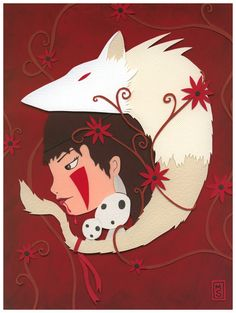 Nerd Love: Princess Mononoke by renton1313.deviantart.com on @deviantART