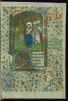 Book of Hours The Flight into Egypt Walters Manuscript W.267 fol. 73r by Walters Art Museum Illuminated Manuscripts