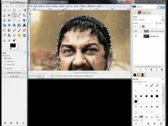 How to combine two pictures together using GIMP - YouTube