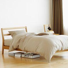 MUJI bedding Cheap Diy Home Decor, Gold Home Decor, Diy Home Decor Bedroom, Cute Home Decor, Bedroom Ideas, Amazon Home Decor, Home Decor Online, Muji Furniture, Home